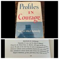Profiles in Courage John F. Kennedy First Edition HCDJ 1955 1956 Signed ? Nevins