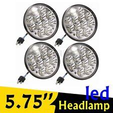 4PCs 5-3/4'' Crystal Clear 12LED Light Bulbs Sealed Beam Headlight  #H5001/H5006