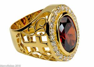 Men's Bishop/Apostle Ring (SUBS974 G-Red), Clergy, Cross