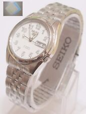 Gift + Stainless Steel Band Automatic Men's White Watch SNK377K1 SEIKO 5 New