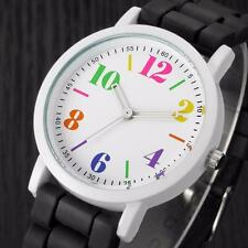 Fashion Sport Womens Mens Watch Silica Jelly Gel Band Analog Quartz Wrist Watch