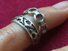 Two Beautiful Dolphins O Link Toe-rings 925 Sterling Silver *Adjustable* K101