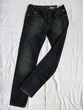 REPLAY Femmes Blue Jeans Stretch Denim w27/l32 Low Waist Slim Fit Fuselé Leg