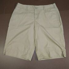 MERONA WOMEN'S SHORTS KHAKI CHINO 100% COTTON SIZE 10 32 X 12 RN17730