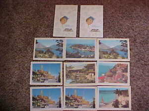lot of 11 Vintage Pan American Airlines Menus Clipper Rainbow Service Mailers