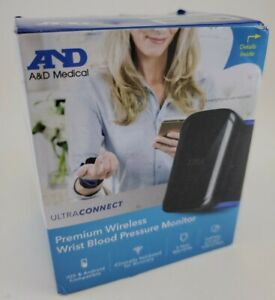 A&D Medical Ultraconnect Wireless Bluetooth Wrist Blood Pressure Monitor