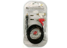 Shielded 6FT. Stereo Cable RCA to 2 RCA Piggyback Gold Plated Male to Male