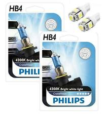 Philips Crystal Vision HB4 Twin - 2 free LED T10/W5W