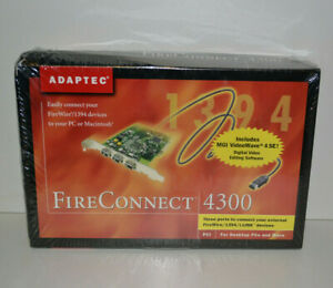 Adaptec FireConnect 4300 PCI Firewire/1394 Adapter Card for PC or MAC - NEW!