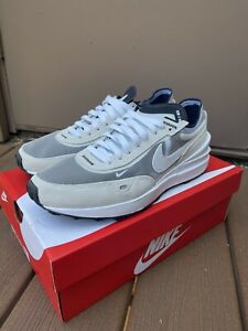 Nike Air Waffle One Shoes Mens Size 8 Summit White Black Trainer Racer Pre-Owned