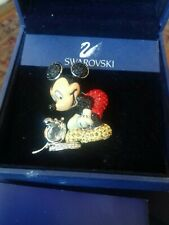 """Swarovski Crystal Mickey Mouse """"It started with a Mouse"""" Brooch - RARE ITEM"""