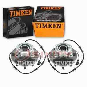 2 pc Timken Front Wheel Bearing Hub Assembly for 2003-2005 Dodge Ram 2500 dn