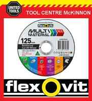 """10 x FLEXOVIT 125mm / 5"""" MULTI MATERIAL CUTTING WHEEL – CUTS JUST ABOUT ANYTHING"""