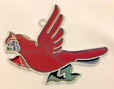 "Red 4"" Cardinal Bird Sun Catcher Faux Mosaic Decoration"