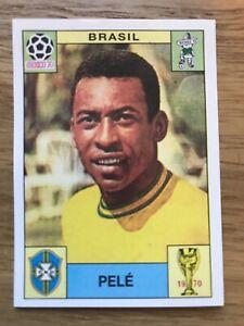 Pele Brazil Mexico 70 Unused Album Sticker (MINT) World Cup Story #38