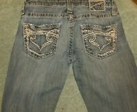 """Big Star Jeans """"Sweet"""" Ultra-Low Rise Size 26"""" waist Distressed"""