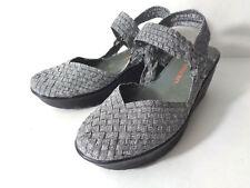BERNIE MEV EUR 40 US 9M Pewter Closed Toe Slingback Wedge Platform Shoes