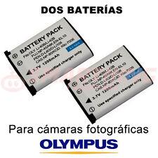 2X BATERÍA Li40B, Li42B PARA OLYMPUS FE-230; 3.7 V; CAPACIDAD 1200 mAh