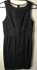 BASQUE 100% Cotton Black Dress Gorgeous EEUC. Size 8