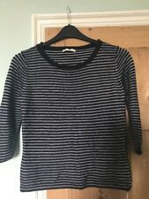 Precis Navy Blue And White Striped Top Size S Approx 10