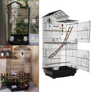 Roof Top Large Metal Bird Cages Budgie Canary Parakeet Cockatiel Finch Lovebird