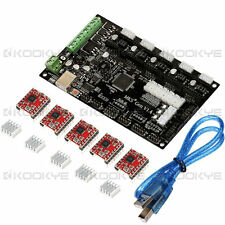 3D Printer MKS Gen V1.4 Controller Board+ 5Pcs A4988 Driver Module + USB Cable