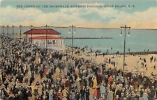 New York City postcard Coney Island The Crowd on the Boardwalk and Rest Pavilion