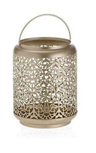 Champagne Pearl Candle Holder Large Tumbler Lantern Candle Holder Jar Gold-Tone