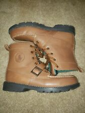 RALPH LAUREN POLO Ranger Hi 97892 Brown Leather Lace Boots Men Size 6