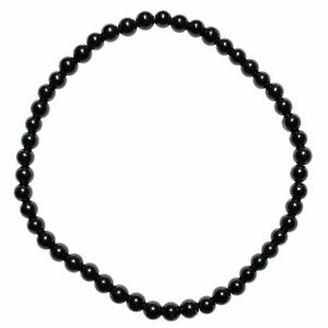 Selenite Charged Black Tourmaline Crystal 4mm Bead Bracelet (other choices)
