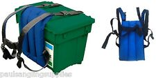Shakespeare SEAT BOX Carry cinghie Sherpa PER BETA TEAM Pesca Tackle Box Cinturino