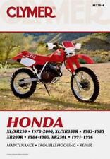 CLYMER REPAIR MANUAL Fits: Honda XL250R,XL350R,XR350R,XL250S,XR250,XR250R