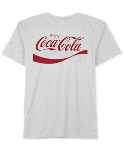 $60 Hybrid Apparel Mens White Coca Cola Graphic Short-Sleeve Crew-Neck T-Shirt S