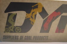 vintage NOS BMX DYNO Bicycles large dealer window sticker
