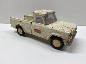 Vintage Mini Tonka Pressed Steel White Jeep Pickup Truck AS-IS