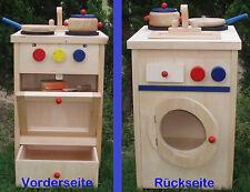 Bambini Cucina in legno play Kochset, Lavatrice nuovo come Regalo, MS0032