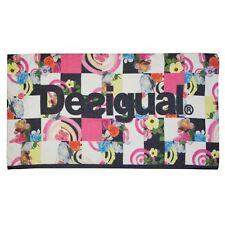 DESIGUAL foulard femme Flowers and checks 200 x 95 cm  NEUF