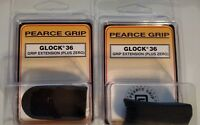 Lot of 2 - Pearce Grip Extensions Glock 36 Textured Grip Mag Extension PG-360