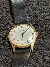 Gold Plated Gents Vintage Oris Sub Dial Mechanical Wrist Watch