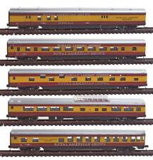 N Gauge - Set Personenwage Royal American Shows 40373 Neu
