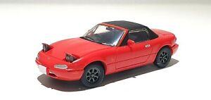 1/64 Toy's Cabin MAZDA MIATA NA EUNOS ROADSTER RED MX-5 model soft top steerable