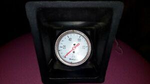 """Sunpro 2"""" Mechanical Oil Pressure Gauge 0-100 PSI White, Chrome Bezel"""