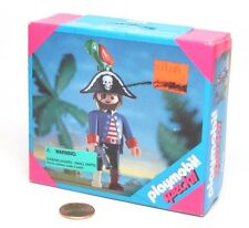 Playmobil Figure Pirate Captain w/ Peg Leg Pistol Hat Parrot Perch 4548 NIB
