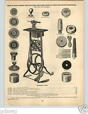 1896 PAPER AD Chigago Watch Tool Co Jewelers' Polishing Lathe Stand Tools