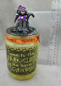 Halloween Come to the Dark Side We Have Candy Lantern Jar