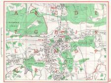 DORKING. Westhumble Westcott Brockham Box Hill. Surrey 1964 old vintage map