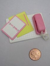 New! FISHER PRICE Loving Family Dollhouse TELEPHONE PHONE & PAPER PAD for OFFICE