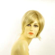 Perruque femme courte blond doré méché blond très clair  MARINA 24BT613