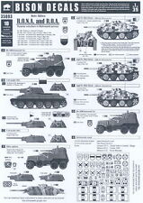 Bison Decals 1/35 AXIS ALLIES R.O.N.A. & R.O.A. Russians in Wehrmacht Service