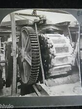 STA194 emptying pig iron Moule Fonte vintage Photo Keystone 1900 STEREO